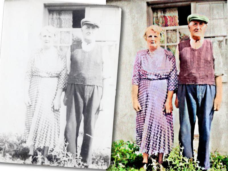 fadedold photo restored